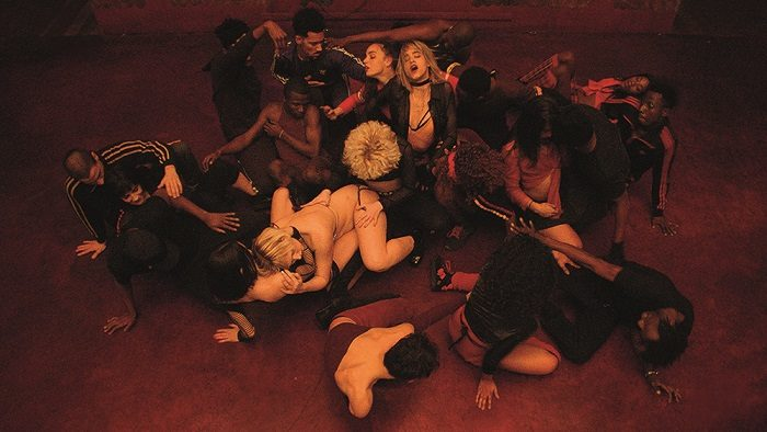 A dance scene from Gaspar Noe's Climax, image courtesy A24.