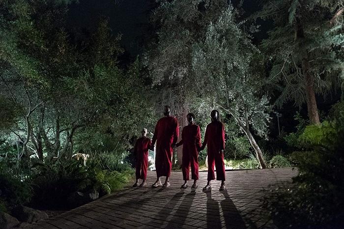 Evan Alex, Winston Duke, Lupita Nyong'o, and Shahadi Wright Joseph in Us, courtesy Monkeypaw Productions/Universal Pictures.