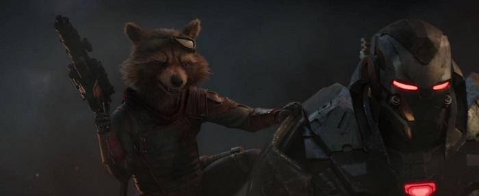 Bradley Cooper and Don Cheadle in Avengers: Endgame, courtesy Marvel Studios/Walt Disney Studios Motion Pictures.