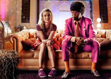 Brie Larson and Samuel L. Jackson in Unicorn Store (Netflix)