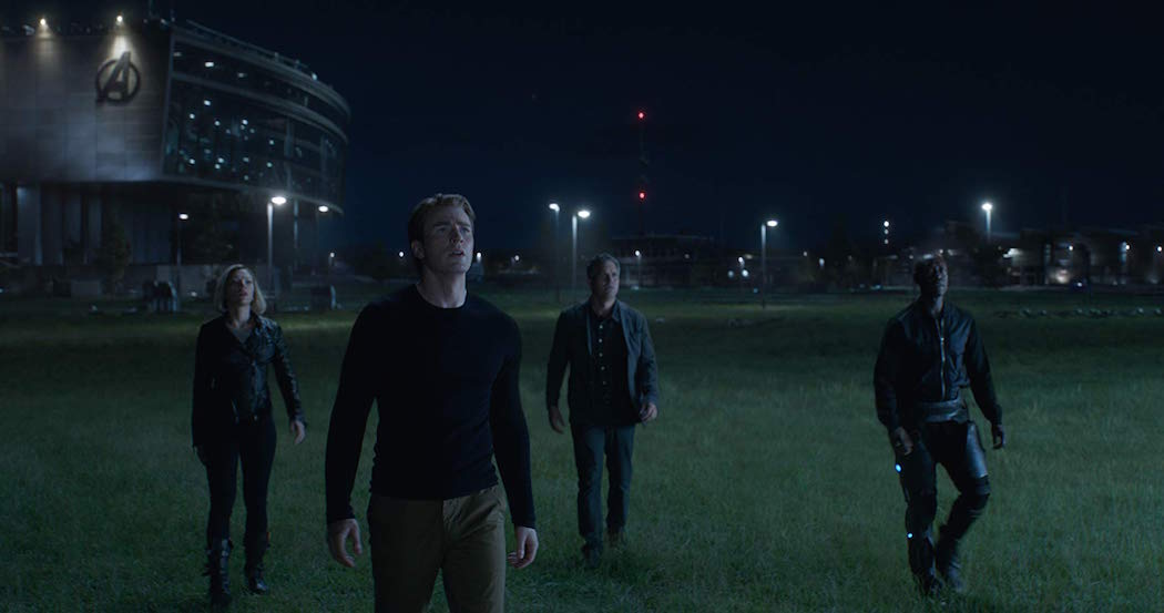Don Cheadle, Chris Evans, Scarlett Johansson, and Mark Ruffalo in Avengers- Endgame (2019)