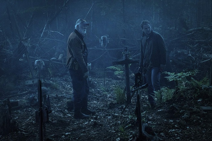 John Lithgow and Jason Clarke in PET SEMATARY, photo credit Kerry Hayes and courtesy Paramount Pictures 2018.