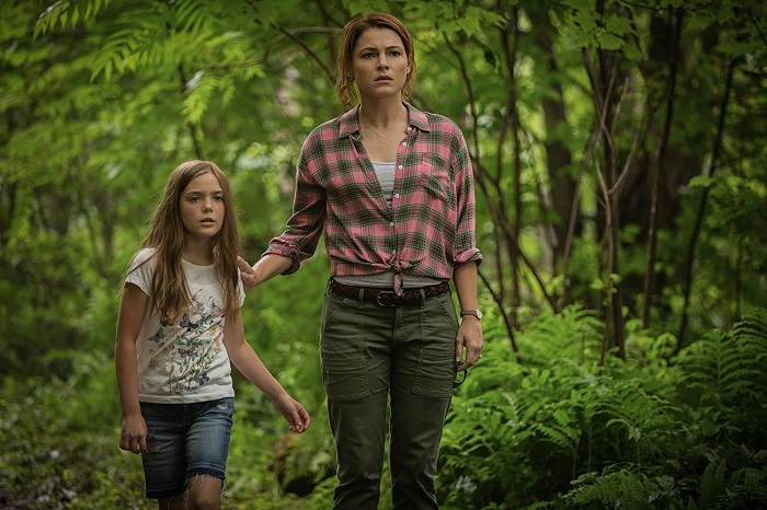 Jeté Laurence and Amy Seimetz in PET SEMATARY, photo credit Kerry Hayes and courtesy Paramount Pictures 2018.