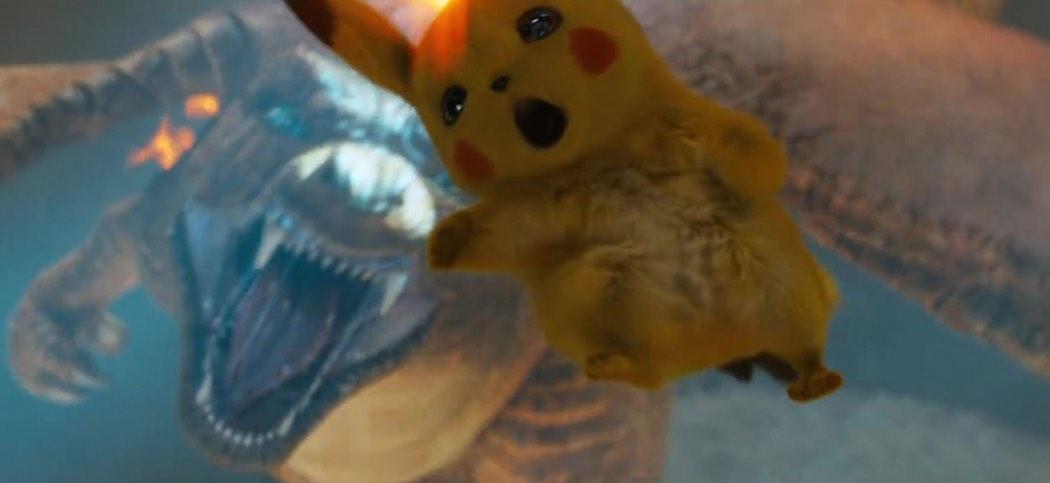 Scene from Detective Pikachu movie