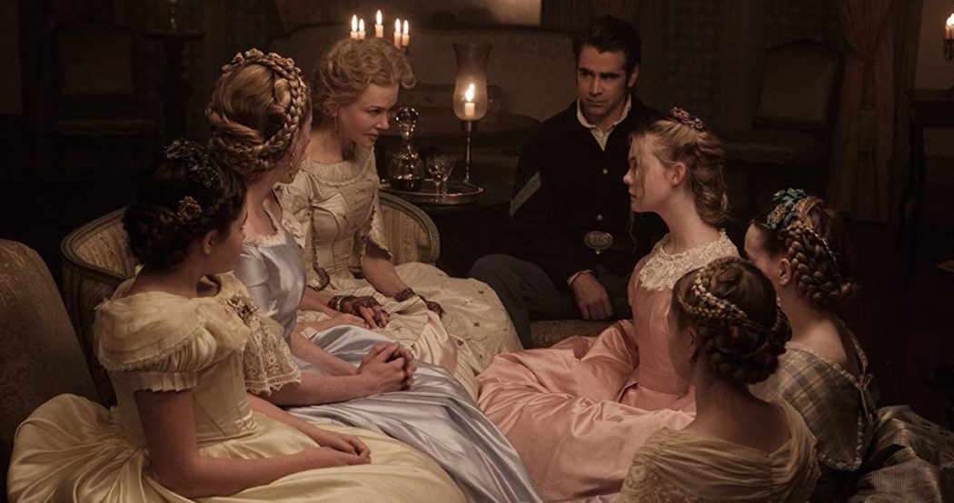 Nicole Kidman, Colin Farrell, Elle Fanning, and Addison Riecke in The Beguiled (2017)