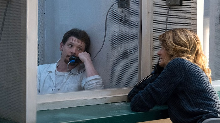 Jack O'Connell and Laura Dern in Trial By Fire, courtesy Roadside Attractions.