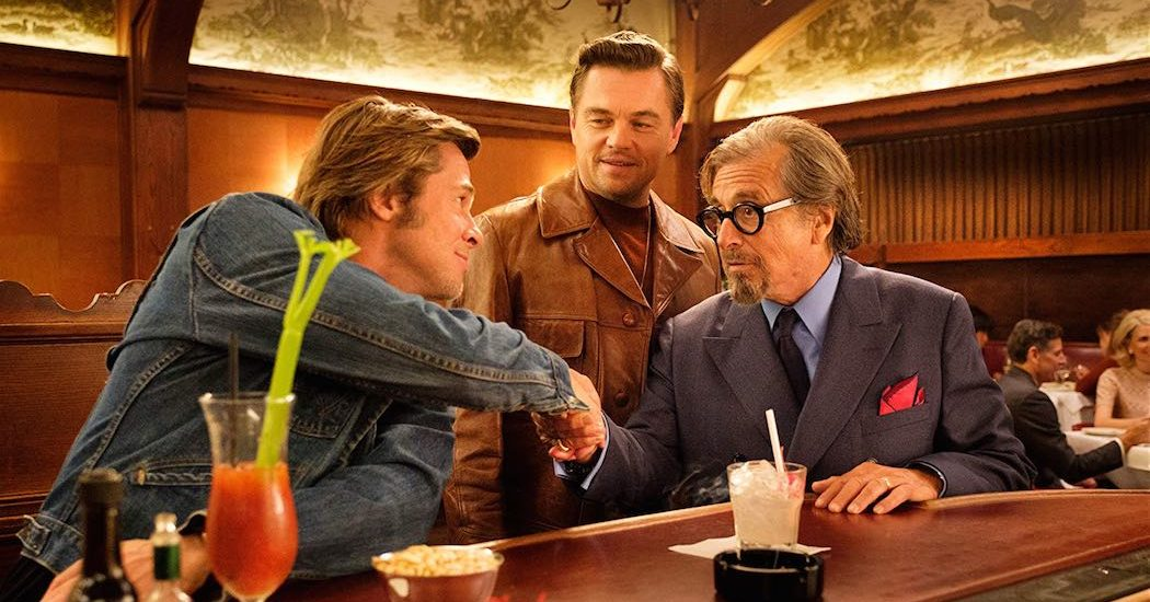 Leonardo DiCaprio, Brad Pitt and Al Pacino star in Quentin Tarantino's Once Upon A Time In Hollywood