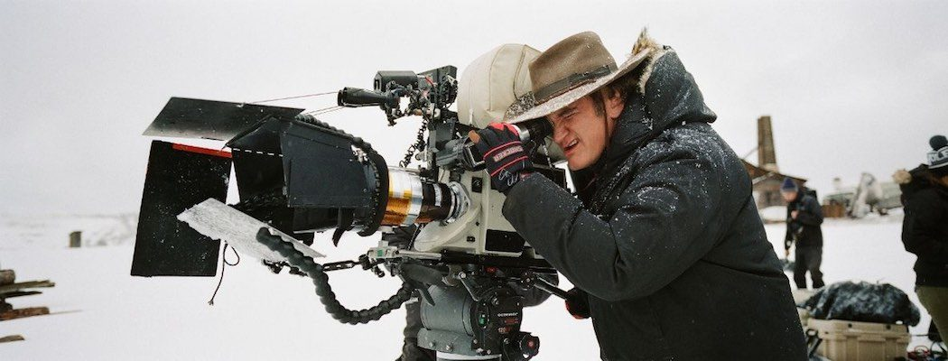 Quentin Tarantino on set of The Hateful Eight
